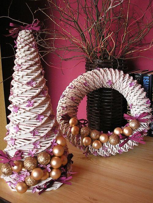 Vánoční věnec, Věnec, Vánoce, Pletení z papíru, Vánoce, Vánoční stromek, Stromek, Stromeček