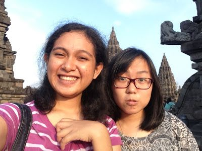 Prambanan with my partner in crime