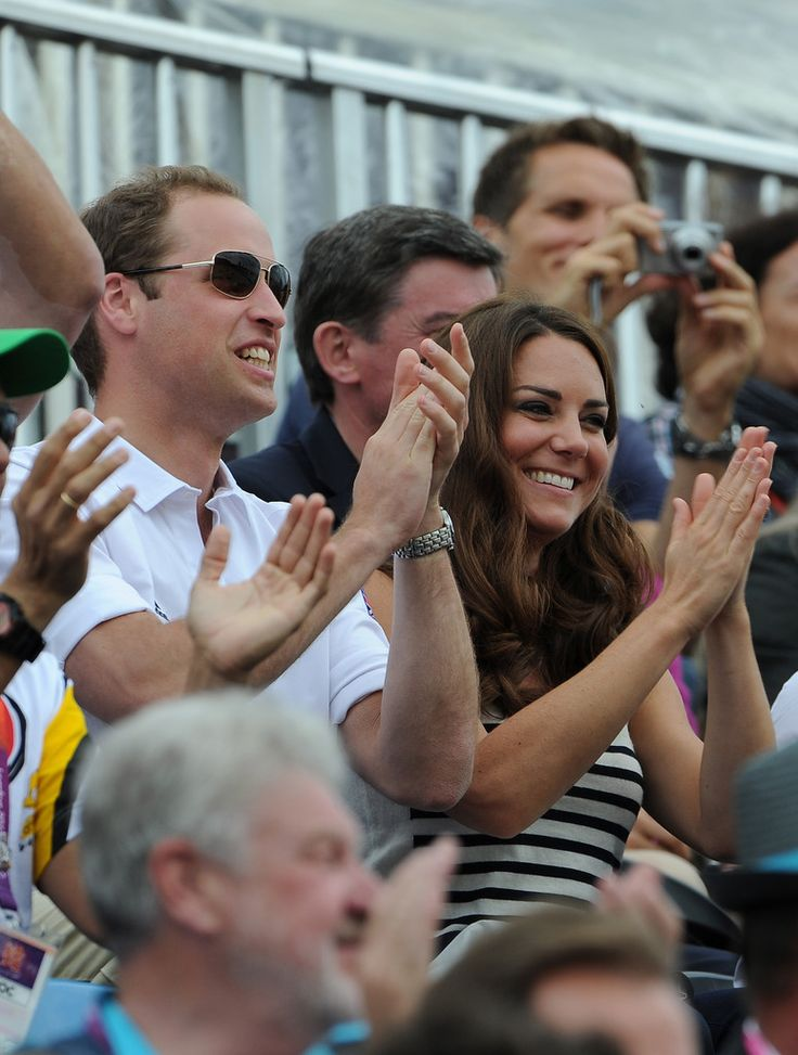 Kate Middleton Photos Photos - Prince William, Duke of Cambridge and Catherine, Duchess of Cambridge look on during the Show Jumping Eventing Equestrian on Day 4 of the London 2012 Olympic Games at Greenwich Park on July 31, 2012 in London, England. - Olympics Day 4 - Equestrian