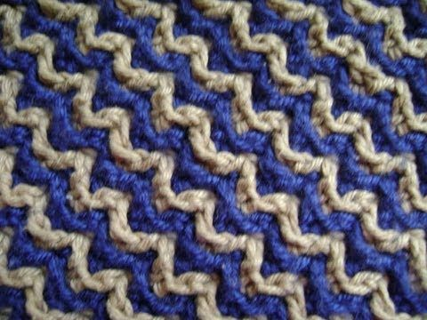 Interlocking Crochet™ - Zigzag Design - YouTube