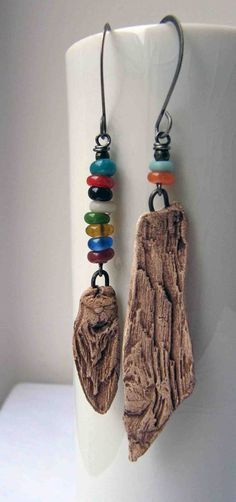 driftwood earrings. Love these! Check out 'something to do with your hands' fab jewellery