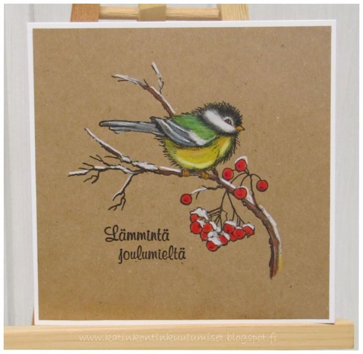 Joulukortit, Christmas card, Prismacolor,