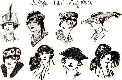 early 1920s hat styles philip