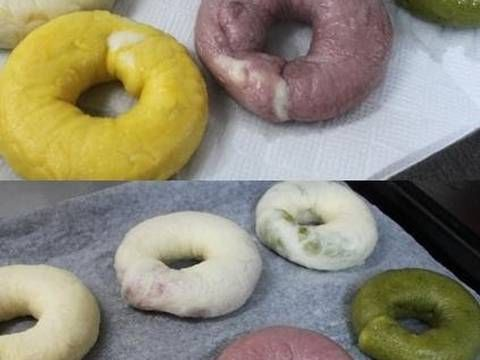 Pink Marbled Bagels Made with Red Sweet Potatoes Recipe by cookpad.japan - Cookpad