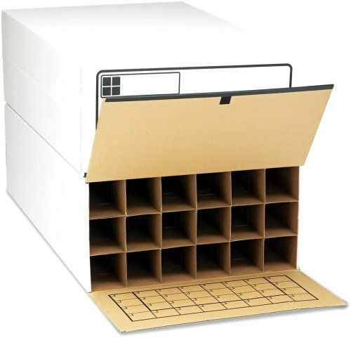 "Safco 3094 Tube-Stor Roll Files, 18 3-3/4"" Tubes, Fiberboard/Wood, 24 x 37-1/2 x 12, WE, 2 by Safco. $97.99. Stackable. Depth adjusters for storing rolls up to 36"" long.. Corrugated fiberboard with wood side panels for strength.. Sturdy and economic design. Velcro® fasteners.. Index grid inside flap.. Built-in tube length adjuster tabs that extend to 24"", 30"", and 36"". Low-cost system. Corrugated fiberboard with wood side panels for strength. Depth adjusters for storing roll..."