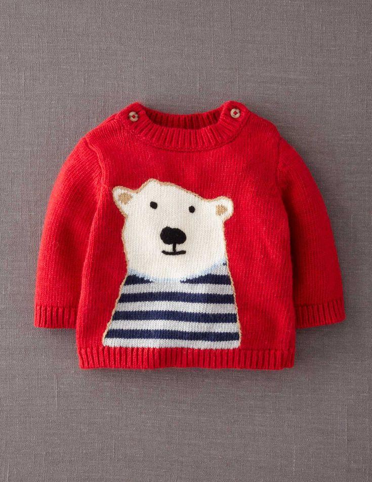 Mini Boden Polar Bear Sweater