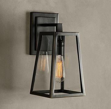 R- Exterior for the garage? Filament Sconce - traditional - wall sconces - Restoration Hardware