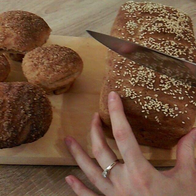 РЕЦЕПТ хлеба домашнего диетического на йогурте (выстаивала в хлебопечке тесто (можно в теплое место у батареи или 40-50℃ духовка 3.5часа), потом пекла 180℃ дух...