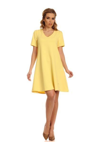 Lemoniade - trapezowa luźna sukienka akurat na gorące dni, http://www.planetap.pl/sukienki-c-1_6.html