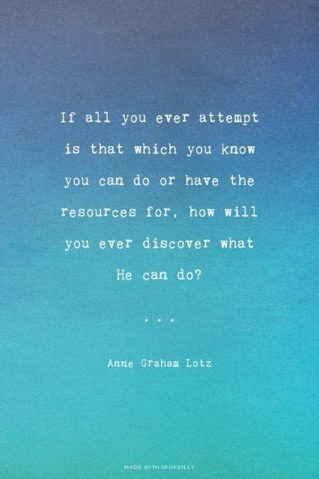 From Anne Graham Lotz