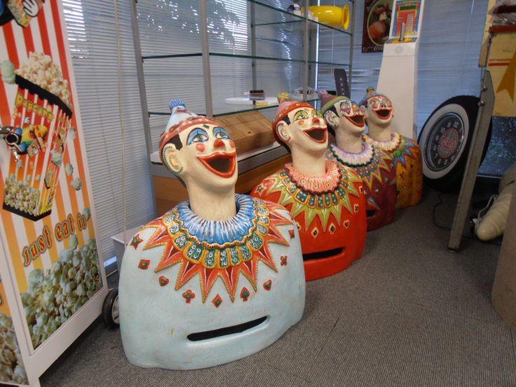 "Artist Hand Made Carnival Clown Retro Arcade Luna Park ""Light Blue"" MR Pinball | eBay"