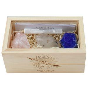 Black Tourmalinated Quartz Rose Quartz Lapis Selenite In Box Crystal Box Box Decorative Boxes