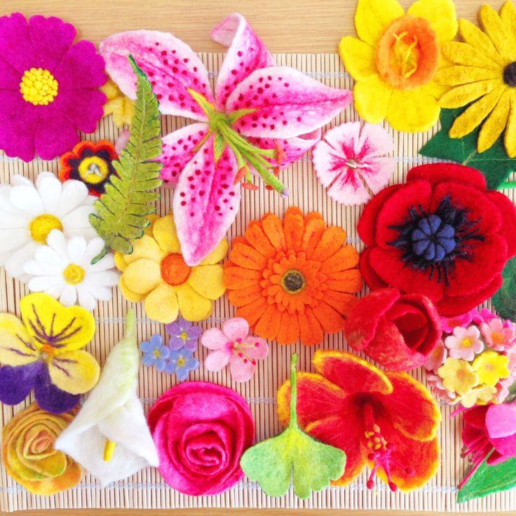 #Felting #Fabulous #Flowers by Gillian Harris - signed copied available on our website #felt #wetfelting #needlefelting