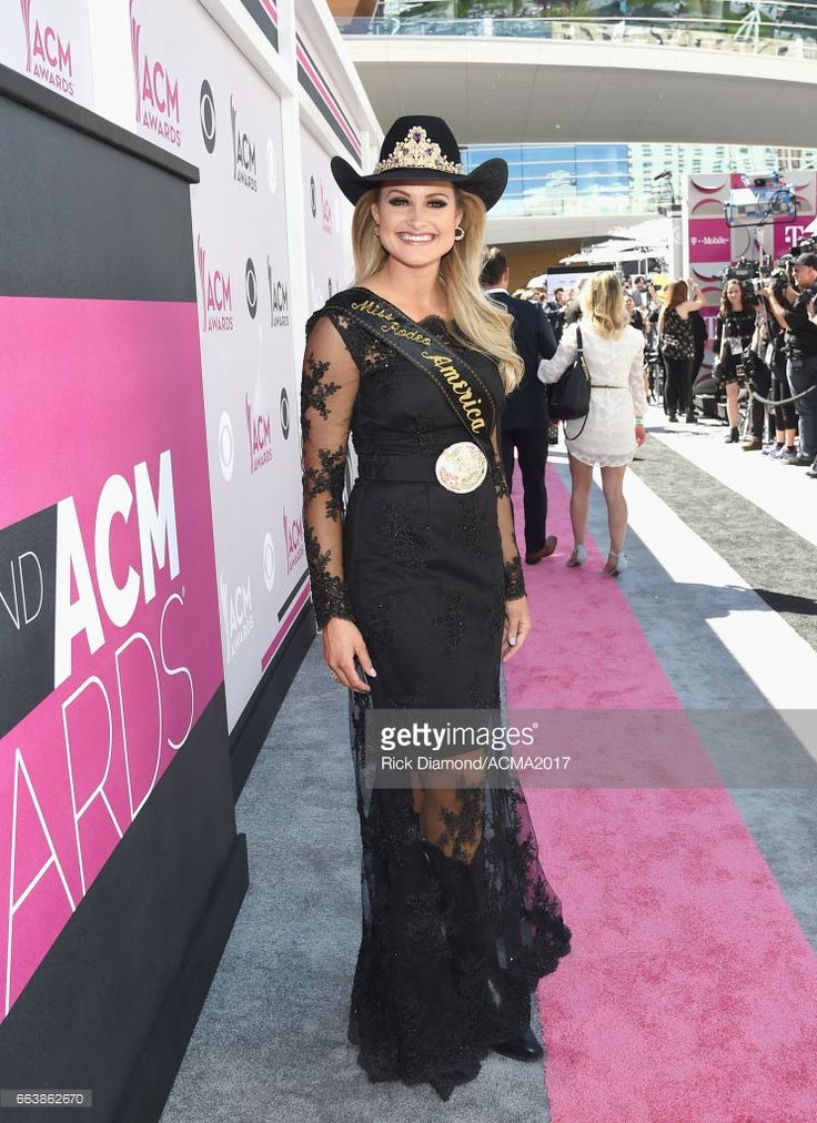 Miss Rodeo America Lisa Lageschaar attends the 52nd Academy Of Country Music Awards at Toshiba Plaza on April 2, 2017 in Las Vegas, Nevada.