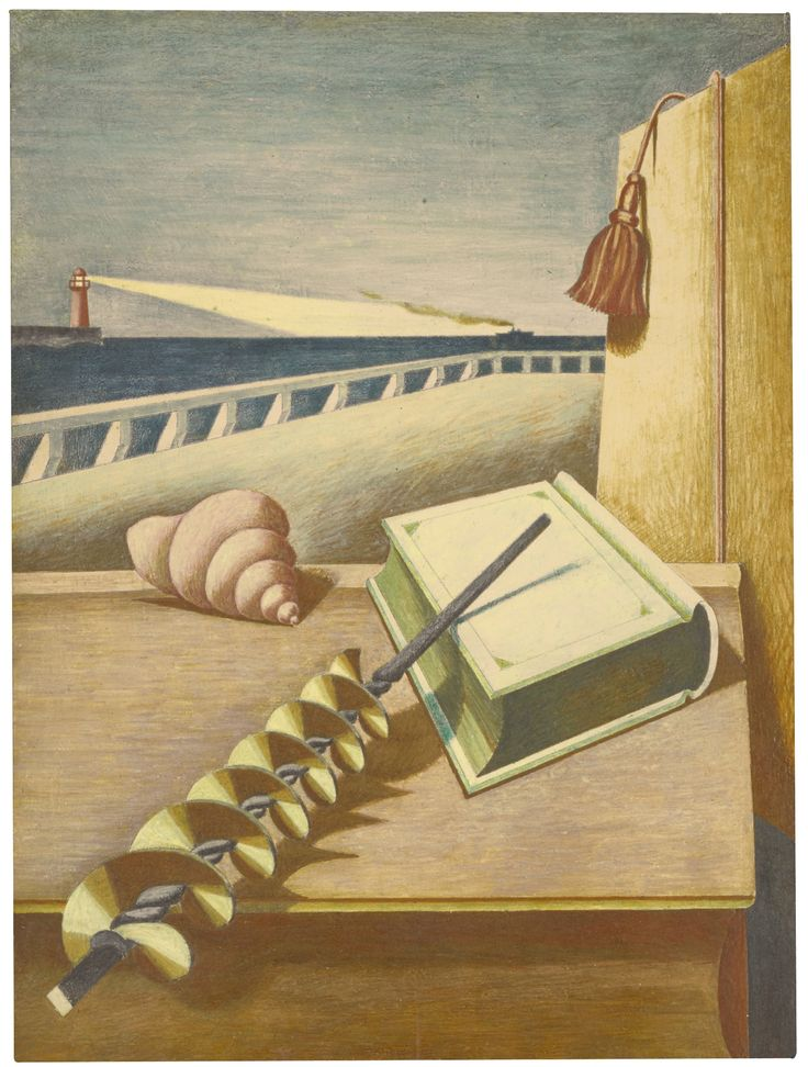 Edward Wadsworth 1889 - 1949 AU REVOIR indistinctly signed and dated 1929  pencil and tempera on panel 30 by 22.5cm.; 11¾ by 9in.