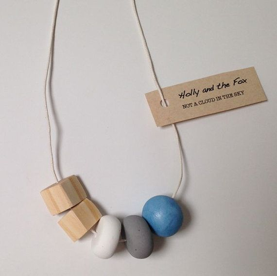NOT A CLOUD Clay Bead Necklace