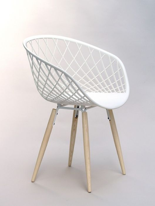 Witte Stoel Houten Poten.24designs Stoel Sidera Chair Wood Houten Poten Witte Zitting In
