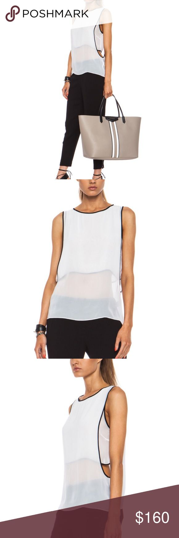 """Helmut Lang Vanish Double Layer Poly Top Polyester, Sleeveless, crewneck, sheer Knit, piping on seams, cutout Layer, loose fit, 34"""" bust, 25"""" length, in great condition Helmut Lang Tops Blouses"""