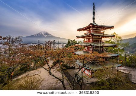 Chureito Pagoda with Fujisan