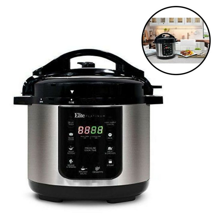 Electric Pressure Cooker 4 Quart Stainless Steel Black Kitchen Programmable #Unbranded