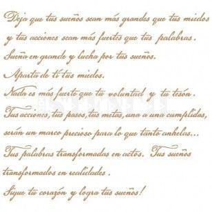 Stencil Deco Texto 037 Deja Que Tus Sueños...