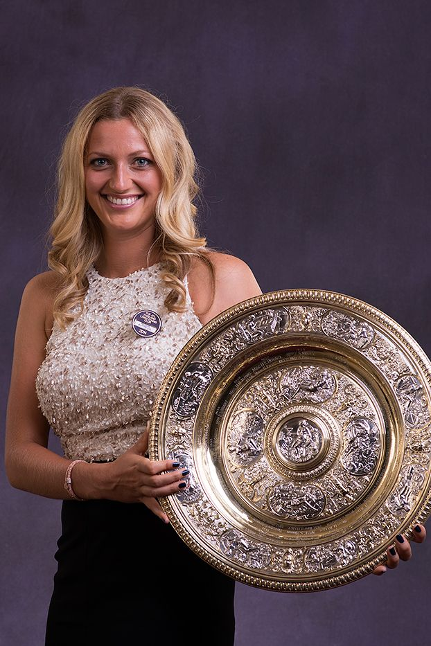 Ladies' Singles Champion Petra Kvitova with the Venus Rosewater Dish - Thomas Lovelock / AELTC