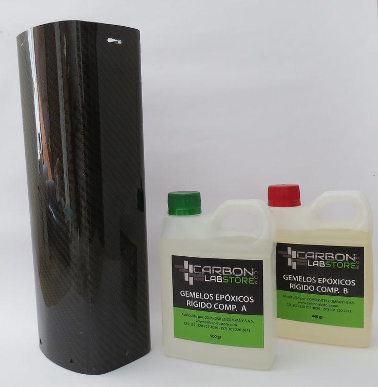 Acabado final del mofle con el uso de los gemelos epóxicos rígidos. Para mayor información, visita: www.carbonlabstore.com