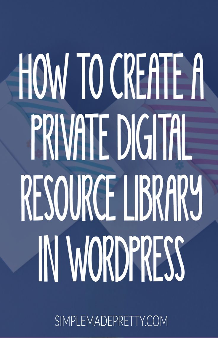 These WordPress tips are amazing! I've always wanted to learn how to create a private digital resource library for my blog. She breaks it down into simple steps and I and I had my digital library set up in no time!