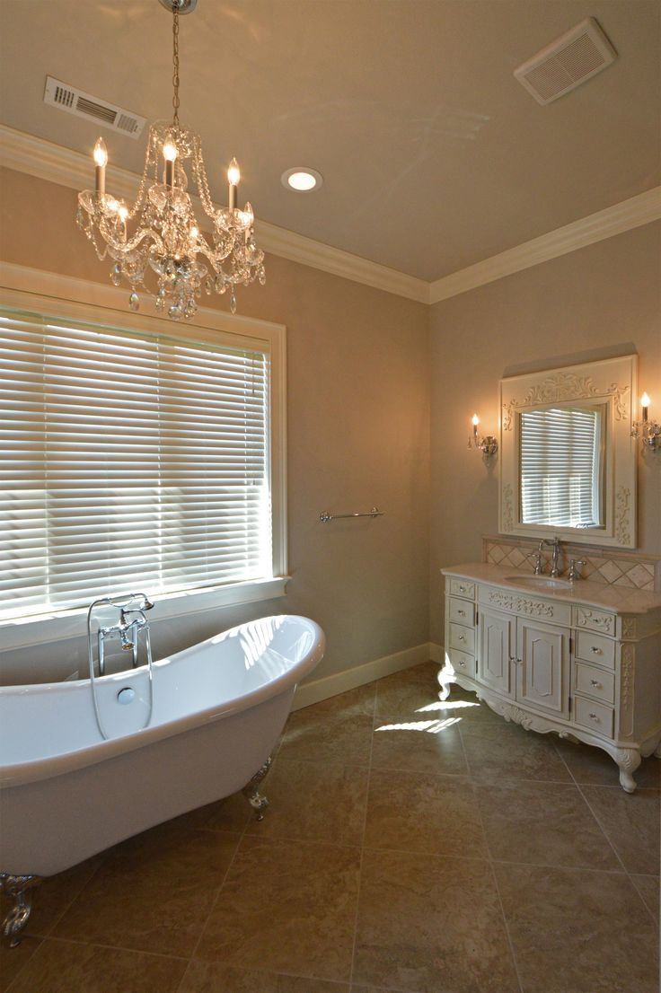 Master Bath Featuring Dual Stand Alone Custom Vanities