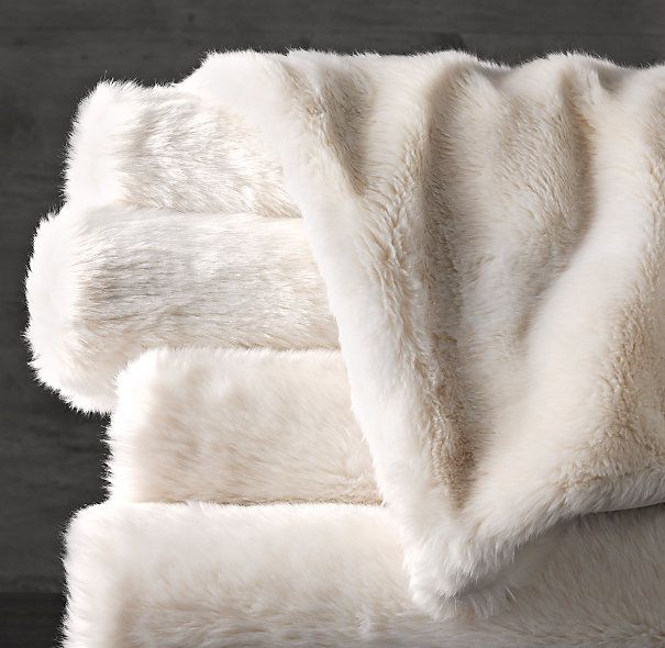 Luxe Faux Fur Throws - on sale for $79!  - Yummy faux fur throw for the edge of your bed?