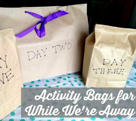 Brilliant! Activity bags for the kids while you're welcoming your new baby at the hospital