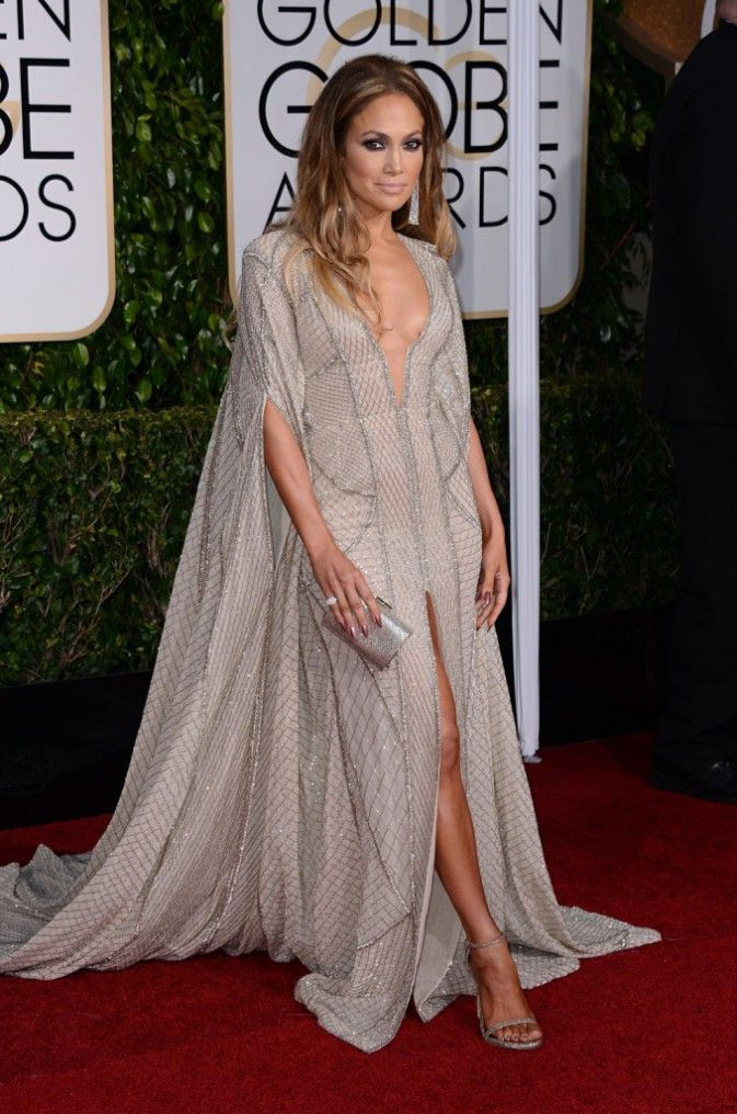 Jennifer Lopez aux Golden Globes. robe Zuhair Murad.
