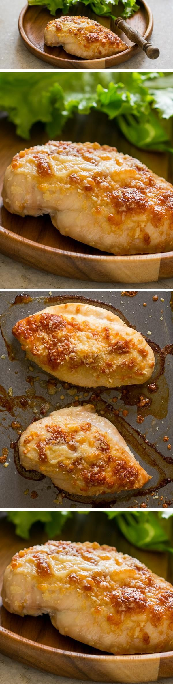 The easiest five ingredient BAKED RANCH CHICKEN made with ranch dressing and seasoning mix that is going to become your favorite dinner option.