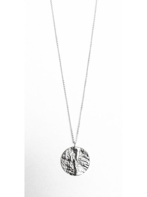 Full Moon Necklace - OOAK Reticulated and Sterling Silver