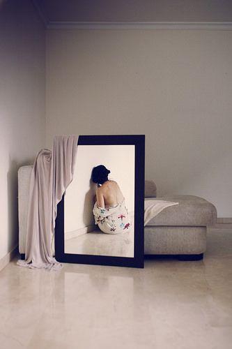 Habitando el vacío #autorretrato #selfie #enotrapiel #espejo #espaldad
