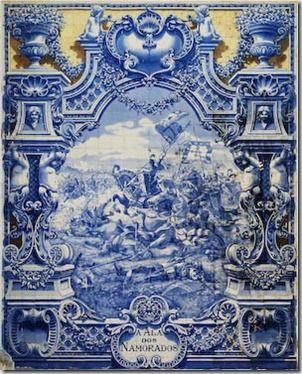 Fábrica de Cerâmica Lusitânia.10 Painel de Jorge Colaço