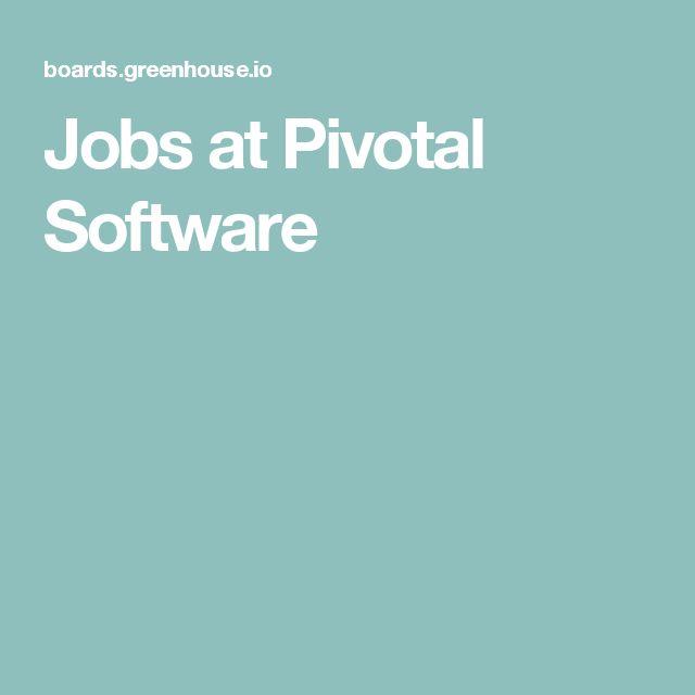 Jobs at Pivotal Software