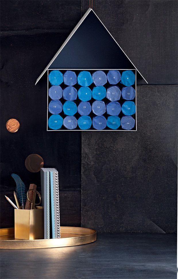 adventskalender mit toilettenpapierrollen basteln. Black Bedroom Furniture Sets. Home Design Ideas