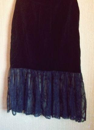 Kup mój przedmiot na #vintedpl http://www.vinted.pl/damska-odziez/spodnice/13210578-gotycka-welurowa-tiulowa-dluga-spodnica