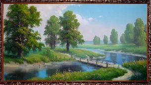На окраине леса - Летний пейзаж <- Картины маслом <- Картины - Каталог | Универсальный интернет-магазин подарков и сувениров