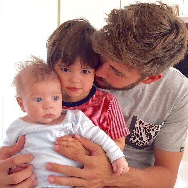 """Pin for Later: 22 Times Shakira and Gerard Piqué Gave Us Major Family Goals  Simply captioned, """"Els meus dos mites."""" Translated from Catalan to English this means, """"my two myths."""""""