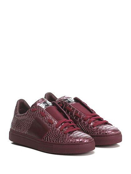 STOKTON - Sneakers - Donna - Sneaker in pelle stampa pitone effetto laminato con…