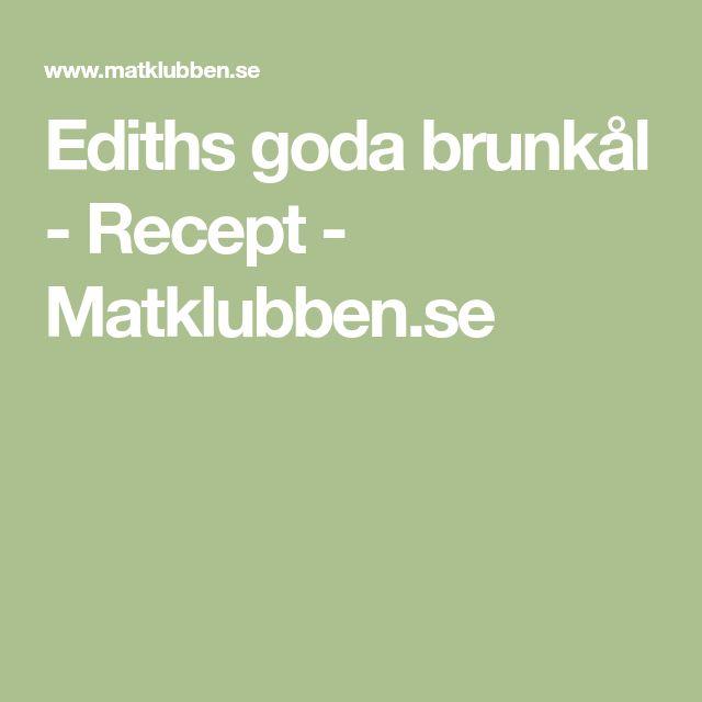 Ediths goda brunkål - Recept - Matklubben.se