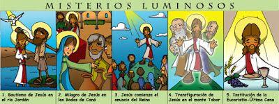 Dibujos para catequesis: misterios del rosario