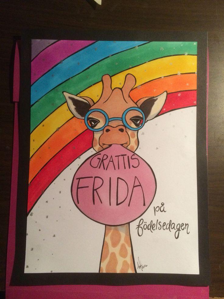 Birthdaycard to my babysister for her 16th birthday ❤️