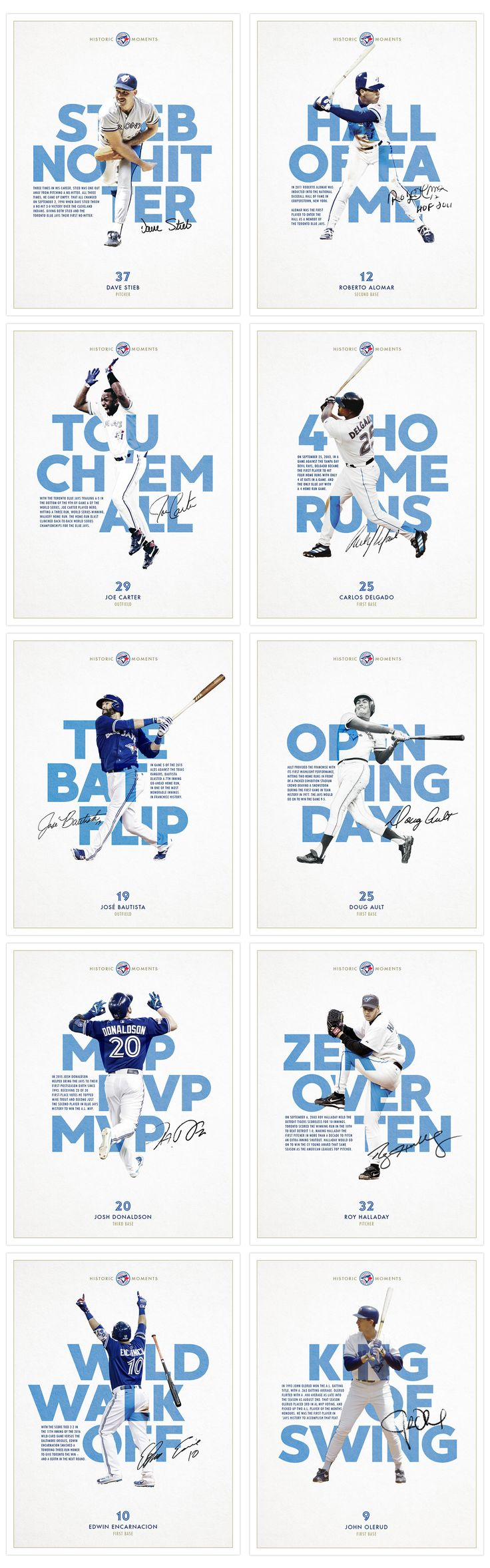 Historic Blue Jays Moments - Poster Series on Behance