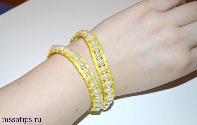 Мастер класс по созданию браслета с жемчужинами DIY Wrap pearl bracelet | Nissa's tips
