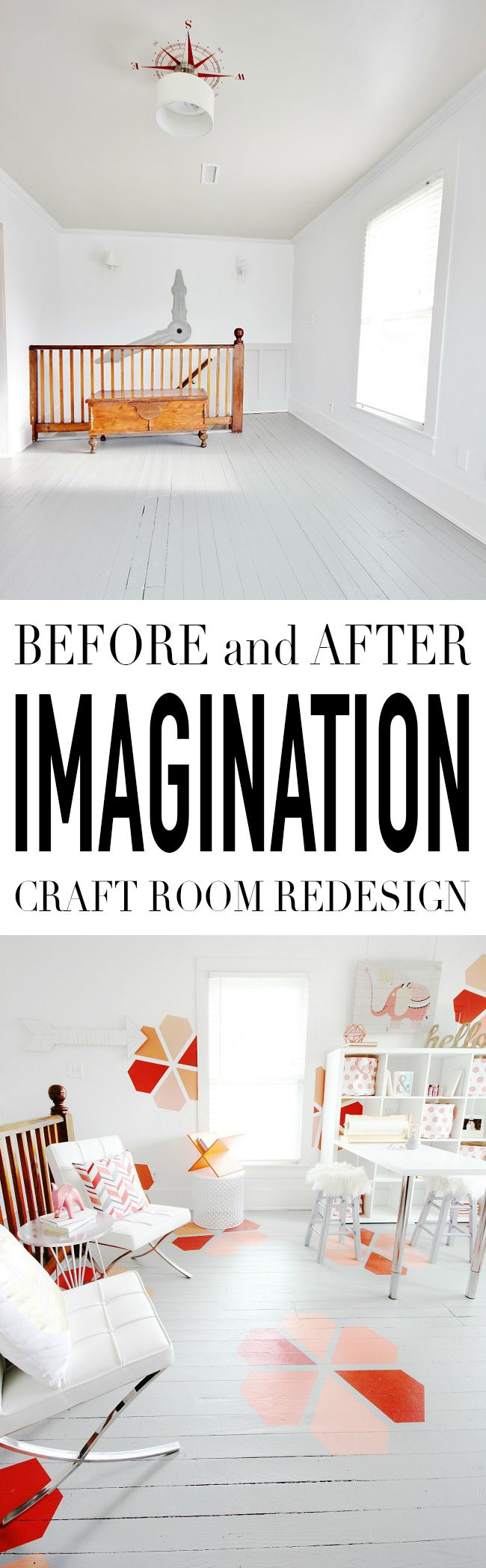 Before and After Imagination Craft Room Redesign