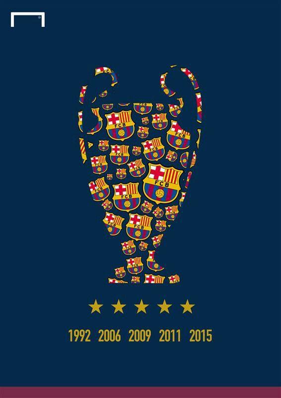 4ª Final en 10 años: 2006, vs. Arsenal 2-1 (Paris); 2009, vs. Manchester U. 2-0 (Roma); 2011, vs. Manchester U. 3-1 (Londres); 2015, vs. Juventus 3-1 (Berlín). La primera final la jugó el FCB en 1961, vs Benfica 3-2 (Berna); 1986, vs.Steaua 0-0 (Sevilla); 1992, vs. Sampdoria 1-0 (Londres); 1994, vs Milan 4-0 (Atenas).