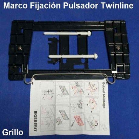 Puls geberit twinline cromo brillo repuestos para for Repuestos para inodoros